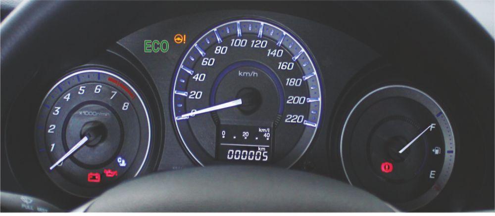 ECO Speedometer With Blue Optitron