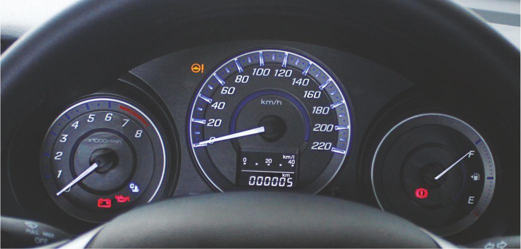 Speedometer with Blue Optitron